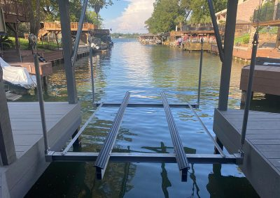 The boat lift company lake conroe livingston houston town ponds custom work